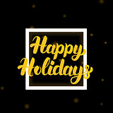 Happy Holidays Lettering Design