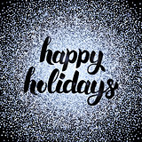 Happy Holidays Silver Design