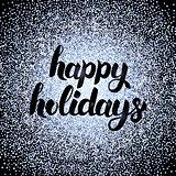Happy Holidays Silver Design