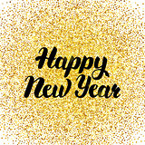 Happy New Year Gold Poster