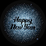 Happy New Year Lettering over Silver