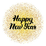 Happy New Year Lettering with Gold