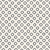 Vector Seamless Black and White Hand Drawn Rounded Rhombus Pattern