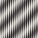 Vector Seamless Black and White Vertical Wavy Lines Pattern