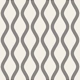 Vector Seamless Black and White Vertical Stripy Wavy Lines Pattern