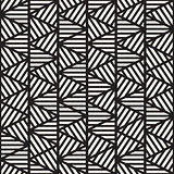 Vector Seamless Black And White Geometric Triangle Stripes Pattern