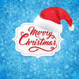 Christmas banner and hat of Santa Claus