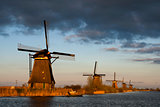 The windmills from Kinderdijk