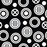 geometric minimal seamless abstract pattern