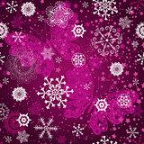 Seamless purple gradient pattern with snowflake