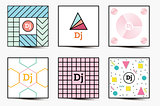 Set of Backgrounds with Modern Geometric Design.