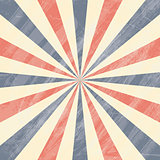 Colorful Circus Sunburst Background.