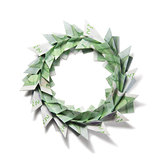 Christmas wreath origami