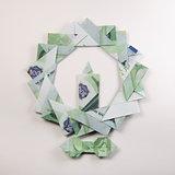 Christmas wreath origami