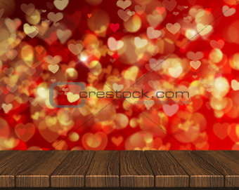 3D Valentine's Day background