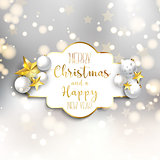 Christmas and New Year background with decorations