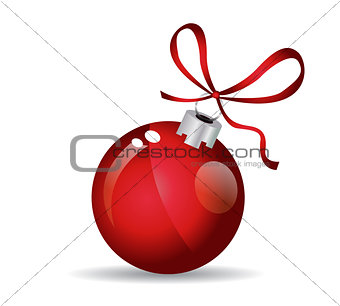 Christmas ball - Red - Decorated design