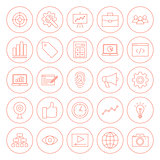 Line SEO Circle Icons
