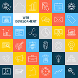 Vector Line Web Development Icons