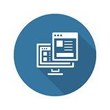 Landing Page Icon. Flat Design.