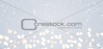 Gray festive Christmas background