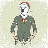 White polar bear vector illustration