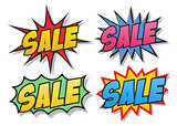 Sale comics bubbles