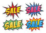 Sale comics bubbles