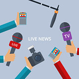 Vector illustration of live news