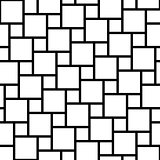 Vector black and white tiles seamless pattern