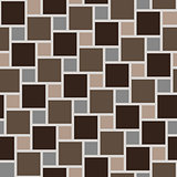 Vector brown tiles seamless pattern