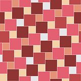 Vector pastel red tiles seamless pattern