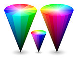 3D color cones