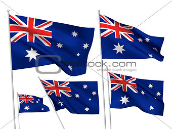 Australia vector flags