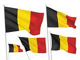 Belgium vector flags