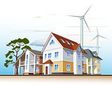 country houses, alternative energy