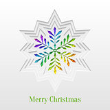 Creative Christmas Snowflake Greeting Card