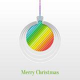 Creative Christmas Ball Greeting Card