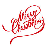Merry Christmas Vector Lettering - Design Element