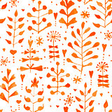 Vector Watercolor Floral Seamless Pattern