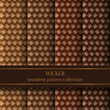 Seamless Wicker Pattern Set