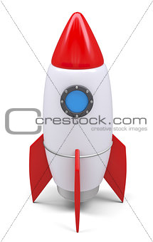 Small rocket, isolated