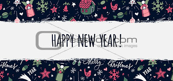 Modern vector New Year card or party design