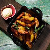 Potato Wedges and Cheese Sauce