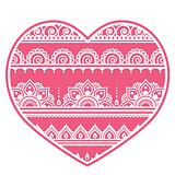 Valentine's Day design - Mehndi heart, Indian Henna tattoo pattern