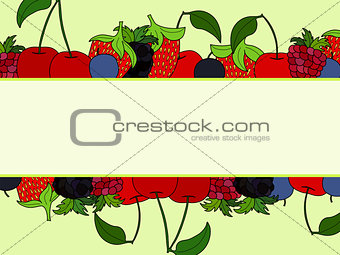 abstract vector doodle berry background