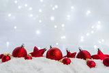 Christmas scene with snow
