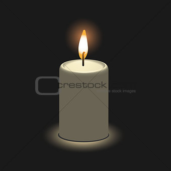 Candle in 3D view