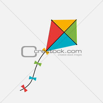 Kite  Icon. Vector Illustration