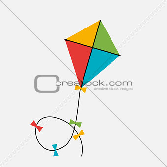 Kite  Icon. Vector Illustration